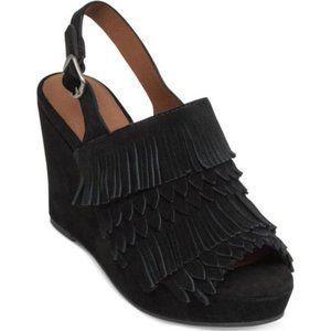 Lucky Brand Jeena Fringe Platform Wedge Sandal 7.5